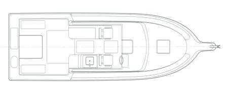 28' Pilothouse Interior Arrangement