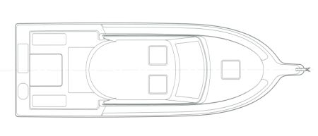 28' Pilothouse Deck Plan