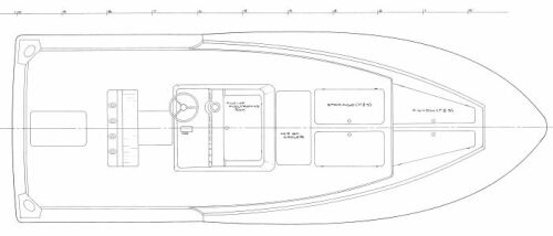 23' Inboard Center Console Arrangement